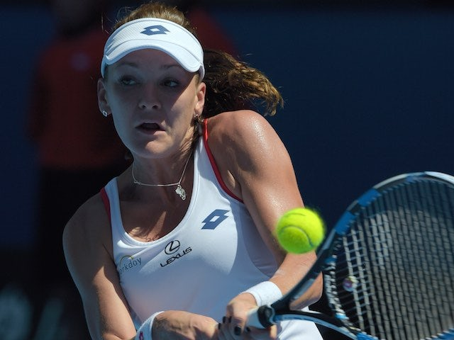 Agnieszka Radwanska in action on day four of the Australian Open on January 22, 2015