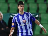 Aleksandar Dragovic of Dynamo Kyiv in action during the UEFA Europa League Group J match against Rio Ave FC on September 18, 2014