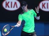 Andy Murray in action on day one of the Australian Open on January 19, 2015