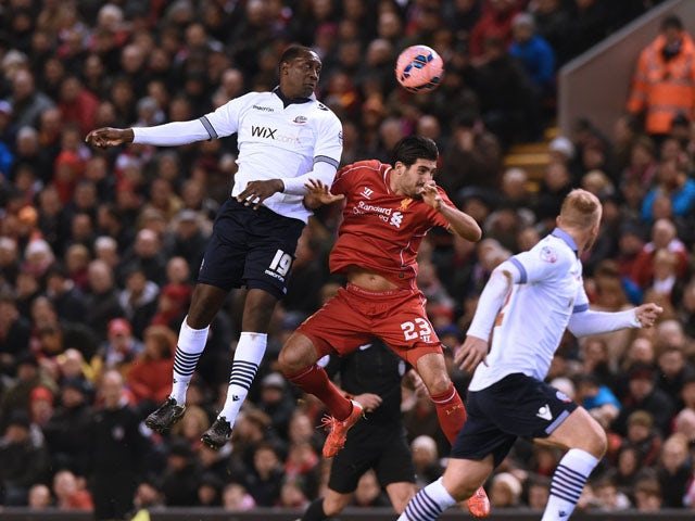 Result: Liverpool held at home by Bolton