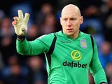 Brad Guzan in action for Aston Villa on January 10, 2015