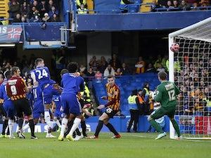 Chelsea ahead against Bradford