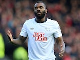 Darren Bent in action for Derby County on January 17, 2015