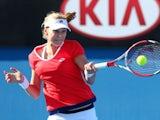 Ekaterina Makarova in action on day one of the Australian Open on January 19, 2015