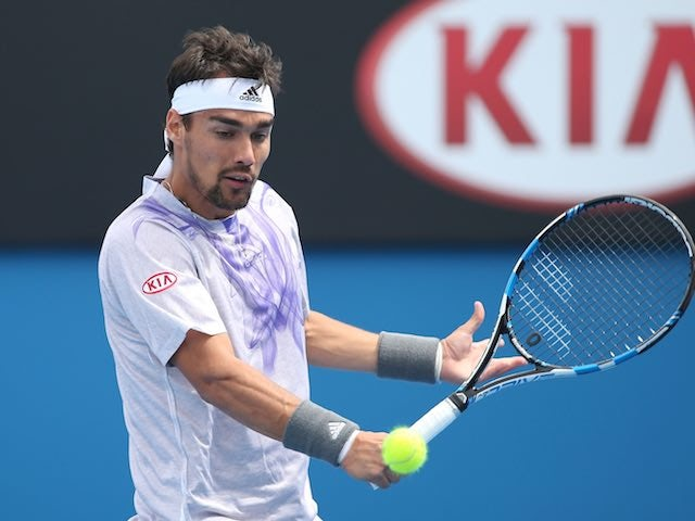 Fabio Fognini in action on day two of the Australian Open on January 20, 2015