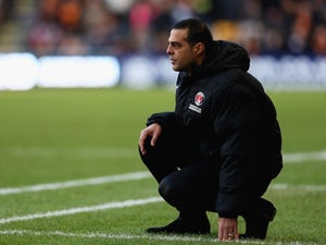 Charlton Athletic boss Guy Luzon on the touchline during the Championship match against Wolverhampton Wanderers on January 25, 2015