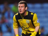 Jed Steer in action for Aston Villa on August 28, 2013