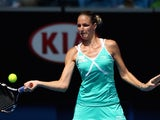Karolina Pliskova in action on day five of the Australian Open on January 23, 2015