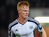 Liam O'Neil in action for West Brom on October 28, 2014