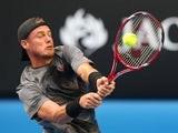 Lleyton Hewitt in action on day two of the Australian Open on January 20, 2015