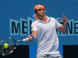 Marcos Baghdatis in action on day three of the Australian Open on January 21, 2015