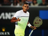 Nick Kyrgios in action on day one of the Australian Open on January 19, 2015
