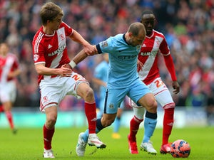 Man City unable to break down Middlesbrough