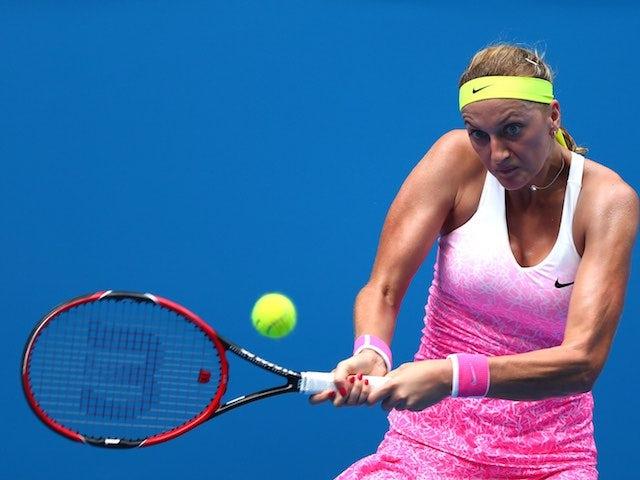 Petra Kvitova in action on day four of the Australian Open on January 22, 2015