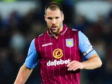 Ron Vlaar in action for Aston Villa on December 26, 2014