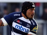 Sam Tuitupou of Sale Sharks in action during the LV= Cup match between Sale Sharks and Wasps on November 1, 2014