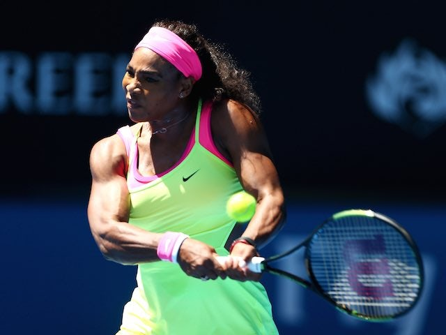 Serena Williams in action on day four of the Australian Open on January 22, 2015