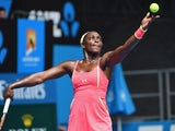 Sloane Stephens in action on day two of the Australian Open on January 20, 2015