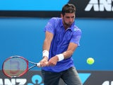 Thomaz Bellucci in action on day two of the Australian Open on January 20, 2015