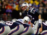 Tom Brady of the New England Patriots prepares for the snap during Q1 of the AFC Championship game on January 18, 2015