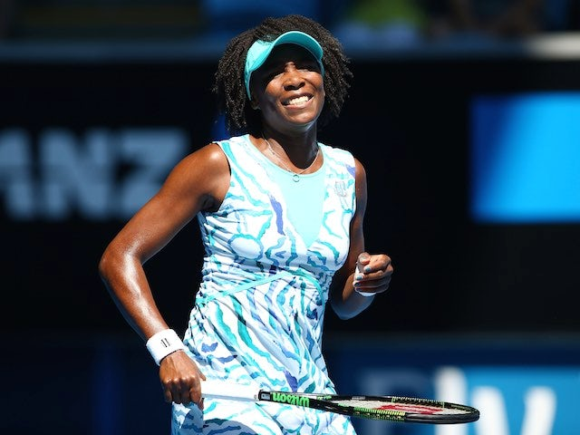 Venus Williams in action on day four of the Australian Open on January 22, 2015