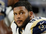 Defensive tackle Aaron Donald #99 of the St. Louis Rams on the bench during the NFL game against the Arizona Cardinals at the University of Phoenix Stadium on November 9, 2014