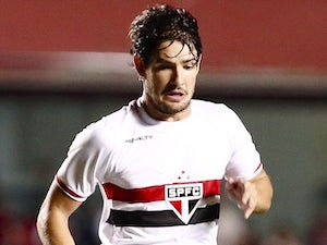 Alexandre Pato in action for Sao Paulo on September 27, 2014