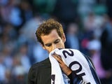Andy Murray of Great Britain looks on in his semifinal match against Tomas Berdych of the Czech Republic during day 11 of the 2015 Australian Open at Melbourne Park on January 29, 2015