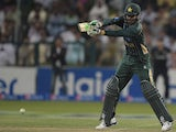 Pakistani batsman Haris Sohail plays a shot during the fifth and final day-night international match between Pakistan and New Zealand at the Zayed International Cricket Stadium in Abu Dhabi on December 19, 2014