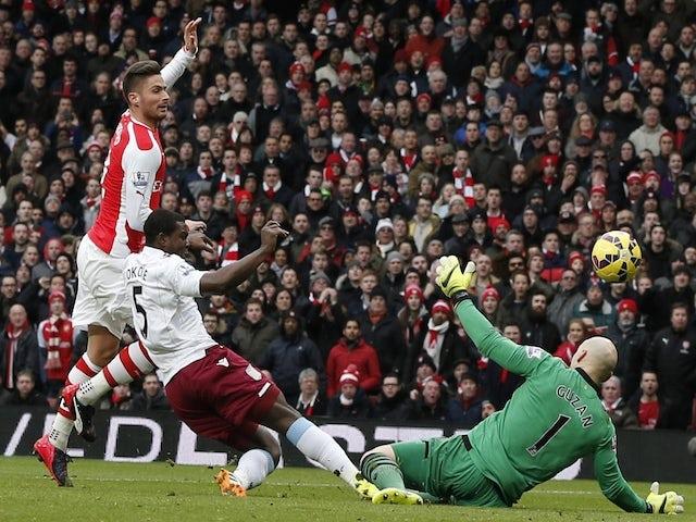 Result: Arsenal thrash struggling Villa