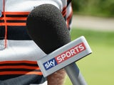Marcel Siem of Germany is interviewed by Sky Sports TV during the Alstom Open de France - Day One at Le Golf National on July 3, 2014