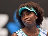 Venus Williams of the US reacts during her women's singles match against Madison Keys of the US on day ten of the 2015 Australian Open tennis tournament in Melbourne on January 28, 2015