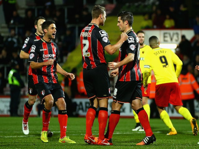 Result: Bournemouth ease past 10-man Watford