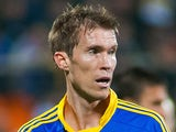 Aleksandr Hleb of FC BATE Borisov in action during the UEFA Champions League group stage match between FC Bayern Munich on October 2, 2012