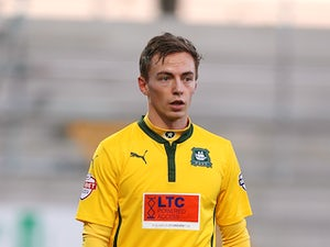 Andy Kellett of Plymouth Argyle in action during the Sky Bet League Two match between Northampton Town and Plymouth Argyle at Sixfields Stadium on December 13, 2014