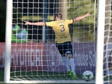 Josh Rose of the Mariners celebrates the winning goal during the round 16 A-League match between the Central Coast Mariners and Adelaide United at Central Coast Stadium on February 7, 2015