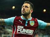 Danny Ings for Burnley on January 1, 2015