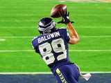 Doug Baldwin in action for Seattle Seahawks on February 1, 2015