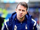 Nottingham Forest manager Dougie Freedman during the Sky Bet Championship match against Brighton & Hove Albion on February 7, 2015