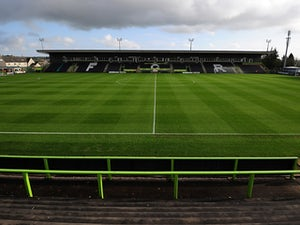 A general view of the pitch ahead of the FA Cup first round match between Forest Green Rovers and Scunthorpe United at The New Lawn on November 9, 2014
