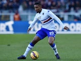 Samuel Eto'o of UC Sampdoria in action during the Serie A match between Torino FC and UC Sampdoria at Stadio Olimpico di Torino on February 1, 2015