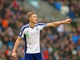 Captain Darren Fletcher of West Brom in action during the Barclays Premier League match between Burnley and West Bromwich Albion at Turf Moor on February 8, 2015
