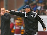 Manager Tony Pulis of West Brom gives direction during the Barclays Premier League match between Burnley and West Bromwich Albion at Turf Moor on February 8, 2015