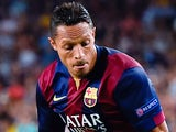 Adriano for Barcelona on September 17, 2014