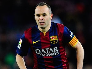 Team News: Andres Iniesta starts for Barcelona