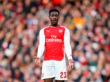 Arsenal striker Danny Welbeck reacts after a missed chance on February 15, 2014