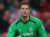 Asmir Begovic for Stoke on November 1, 2014