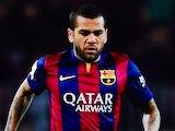 Dani Alves for Barcelona on February 1, 2015