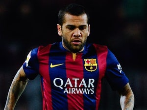 Dani Alves for Barcelona on February 1, 2015