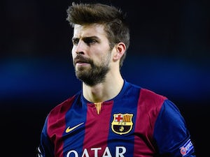Gerard Pique for Barcelona on December 10, 2014